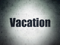 Vacation concept: Vacation on Digital Data Paper background
