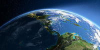 Detailed Earth. The countries of Central America