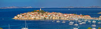 Town of Primosten Adriatic archipelago panoramic view