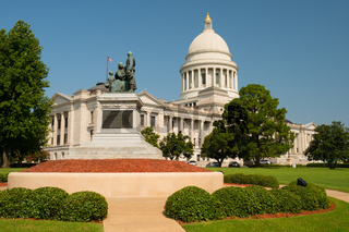 Manicured Grounds Landscape Front Lawn Arkansas State Capital Little Rock