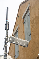 The french quarter in New Orleans Louisiana  is famous for entertainment and music