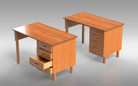 Comfortable table with drawers