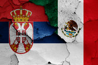flags of Serbia and Mexico