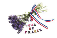 Tour de France with Lavender flowers
