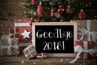 Nostalgic Christmas Tree With Goodbye 2018, Snowflakes