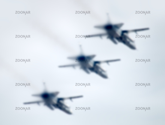 military aircraft in the air