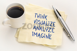think, visualize, analyze and imagine
