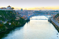 Douro river bridge Porto Portugal