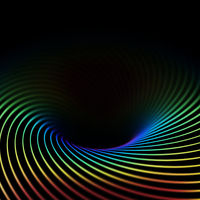 3D abstract bright creative background. Twisted lines in motion.