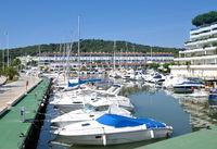 im Hafen von Platja d`Aro,Costa Brava,Katalonien,Mittelmeer,Spanien