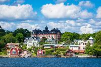 Schärengarten an der schwedischen Ostseeküste vor Stockholm