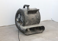 Large blower for drying a floor