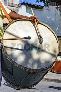 Brazilian folk drums player