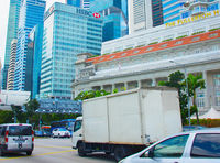 Singapore Downtown road traffic