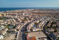 Aerial panoramic view of Torrevieja resort city. Spain