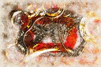 Digital artistic Sketch of a Clockwork