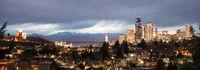 Golden Seattle Washington Downtown City Skyline Puget Sound