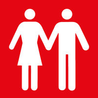 Couple icon flat