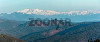 Sunrise spring Carpathian mountains