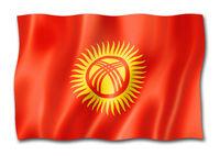Kyrgyzstan flag isolated on white
