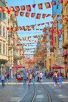 Istiklal pedestrian street in Istanbul