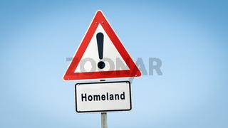 Street Sign to Homeland