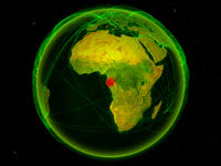 Gabon on Earth with network