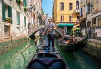 Gondolier in Venice