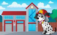 Firefighter dog theme 3