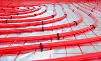 Water underfloor heating pipes