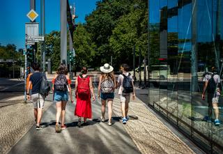Touristen in Berlin