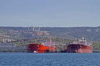 Tankerschiffe vor Triest