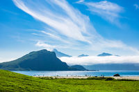 Haukland Beach auf den Lofoten in Norwegen