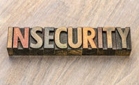 insecurity word in wood type