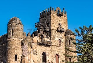 Fasil Ghebbi is the remains of a fortress-city within Gondar, Ethiopia