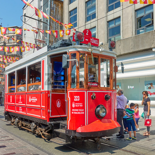 Old tram in Istiklal street