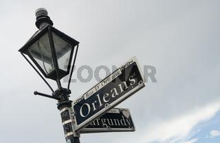Orleans Street Famous Downtown French Quarter Louisiana