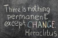 change is permanent