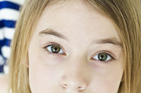 Teenager girl with big eyes