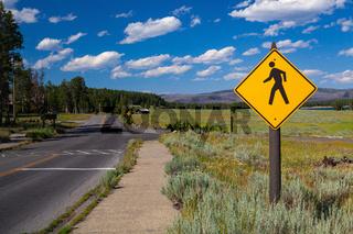 Scenery in Yellowstone National Park, Wyoming, USA.