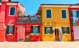 Houses in Burano, Venice