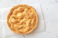 Apple pie on the parchment