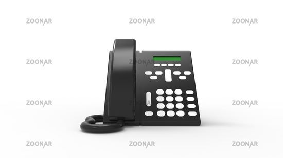 3d rendering of a desk telephone isolated in white background