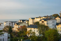 Blick auf die Stadt Sassnitz auf der Insel Rügen