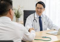 Doctor portrait in medical office