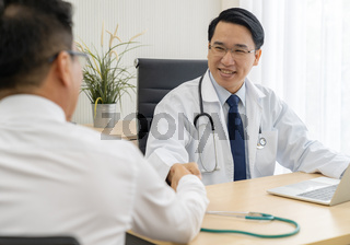 Doctor portrait in medical office