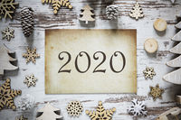 Rustic Christmas Decoration, Brown Vintage Paper, Text 2020