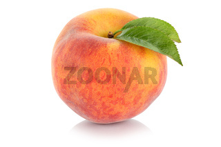 Pfirsich Frucht frisch Obst Freisteller freigestellt isoliert