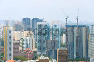 Construction site crane buildings Singapore