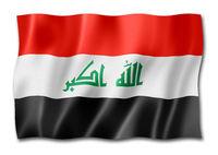 Iraqi flag isolated on white